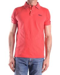 Woolrich - Red Cotton Polo Shirt - Lyst