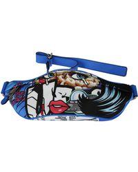 Moschino Blue Cotton Travel Bag