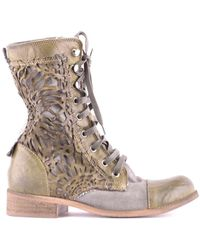 Candice Cooper Suede Ankle Boots - Green