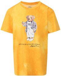 Ralph Lauren Yellow Cotton T-shirt