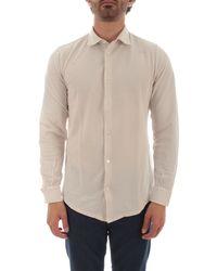 Fedeli Beige Cotton Shirt - Brown