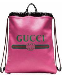 Gucci LEDER RUCKSACK - Pink