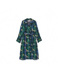 Golden Goose Deluxe Brand Green Wool Trench Coat
