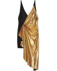 0ea376723 Gucci - Metallic Leather Asymmetric Mini Dress - Lyst