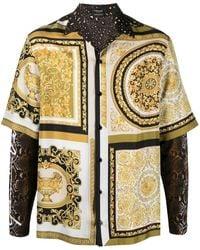 Versace Hemd mit Layering-Look - Braun