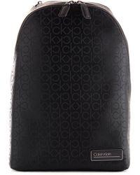Calvin Klein Black Pvc Backpack