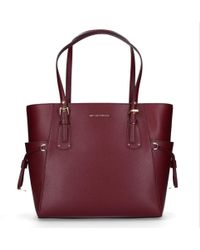 Michael Kors - Burgundy Leather Tote - Lyst