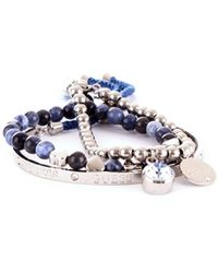 Guess - Silver Metal Bracelet - Lyst