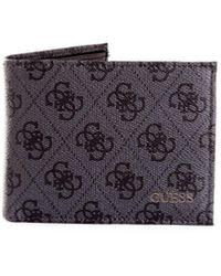 Guess Smvezllea20 Leather Wallet - Black