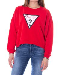 Guess Red Polyester Sweatshirt