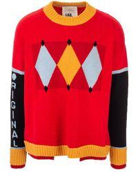 Ballantyne Colour-block Sweater - Red