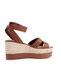 Guess Leather Wedges - Brown