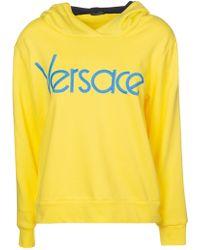 Versace - Yellow Cotton Sweatshirt - Lyst