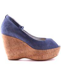 5bf36fe26ff Women's Mcbi148055o Blue Suede Wedges