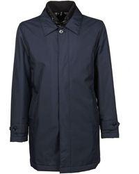 Fay Polyamide Coat - Blue