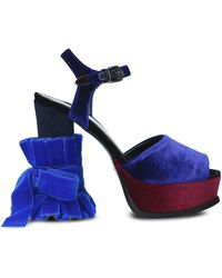 Tipe E Tacchi Leather Sandals - Blue