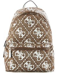 Guess Beige Faux Leather Backpack - Natural