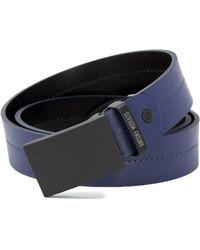 Antony Morato Blue Leather Belt