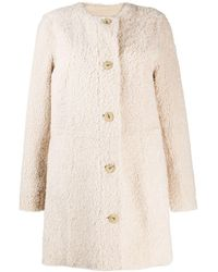 DROMe Beige Wool Coat - Natural