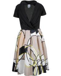 Sara Roka Andy Printed Flared Dress - Black