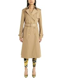 Versace Beige Polyester Trench Coat - Natural