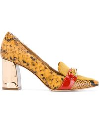 Tory Burch Brown Leather Court Shoes
