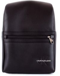 Calvin Klein Black Polyurethane Backpack