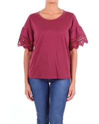 Seventy Burgundy Cotton T-shirt - Multicolor
