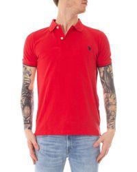 U.S. POLO ASSN. Red Cotton Polo Shirt