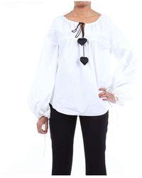 Lanvin BAUMWOLLE BLUSE - Weiß