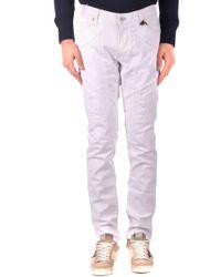 Jeckerson White Cotton Jeans