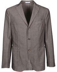Boglioli Grey Cotton Blazer - Gray