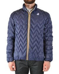 K-Way - Blue Polyamide Outerwear Jacket - Lyst