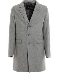 Herno - Waterproof Wool Blend Coat - Lyst