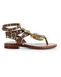 Ash Leather Sandals - Brown