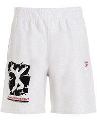 Reebok He2101whitemelange Other Materials Shorts - Grey