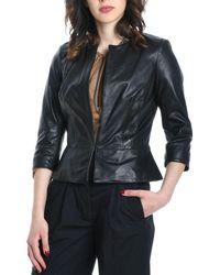 Betta Corradi Black Leather Jacket