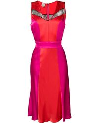 Pinko Red Polyester Dress