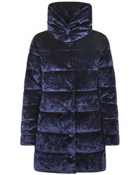 Save The Duck - Blue Polyester Down Jacket - Lyst