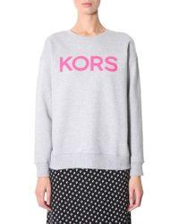Michael Kors Sweatshirt With Logo Print - Gray