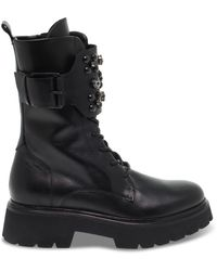 Janet & Janet Leather Ankle Boots - Black