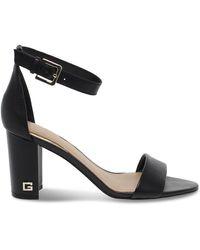 Guess Fashion Fl6mealea03black Black Leather Sandals | Spring Summer 20