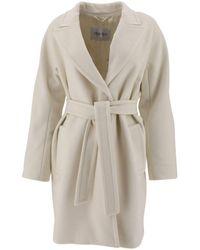 Max Mara White Wool Coat