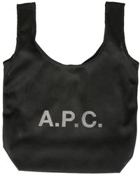A.P.C. ANDERE MATERIALIEN TOTE - Schwarz