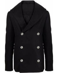Balmain Double-breasted Coat - Black