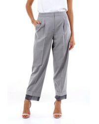 Fabiana Filippi Grey Chino Trousers