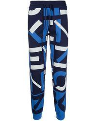 KENZO Cotton Sweatpants - Blue