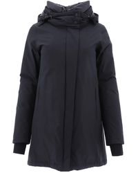 Herno Black Polyester Coat
