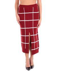 Mrz Burgundy Wool Skirt