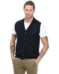 Altea Black Wool Vest